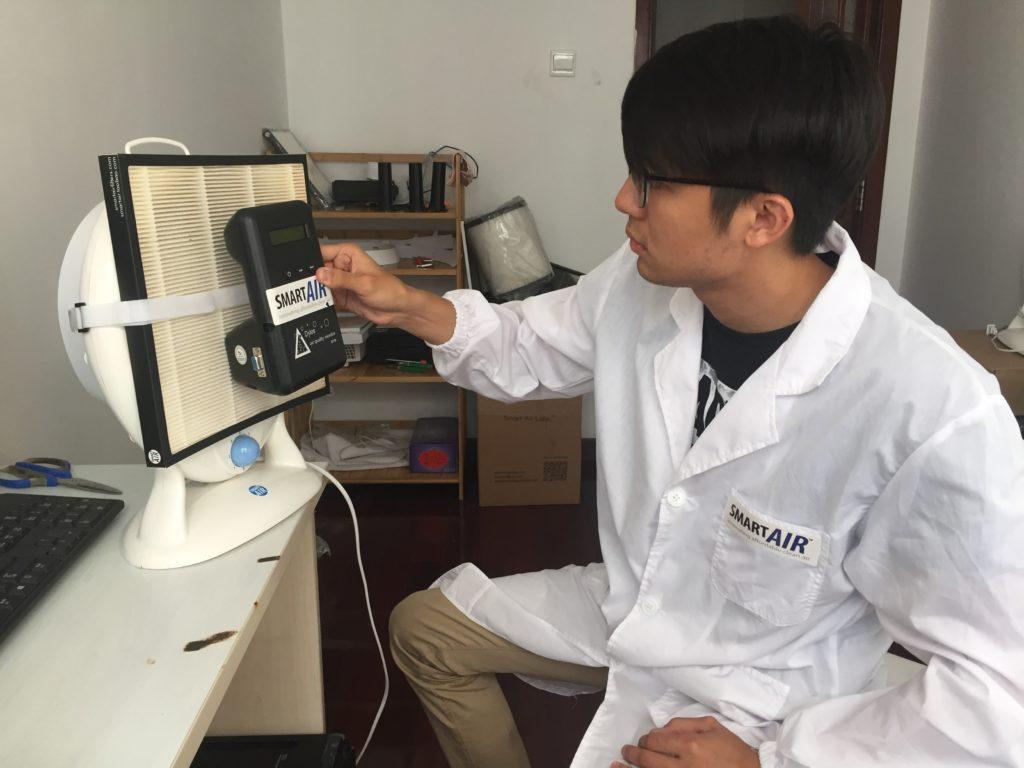 Smart Air engineer testing