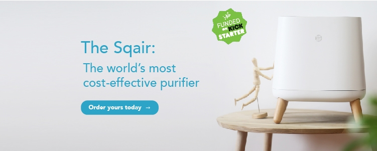 The Sqair air purifier Kickstarter