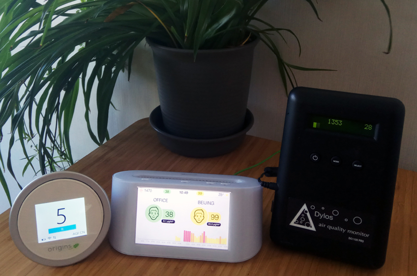 Comparison of air quality monitors