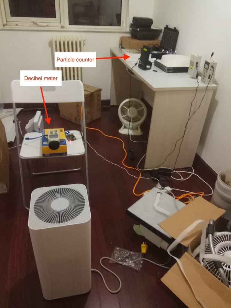 Phòng kiểm tra ô nhiễm không khí xiaomi mi