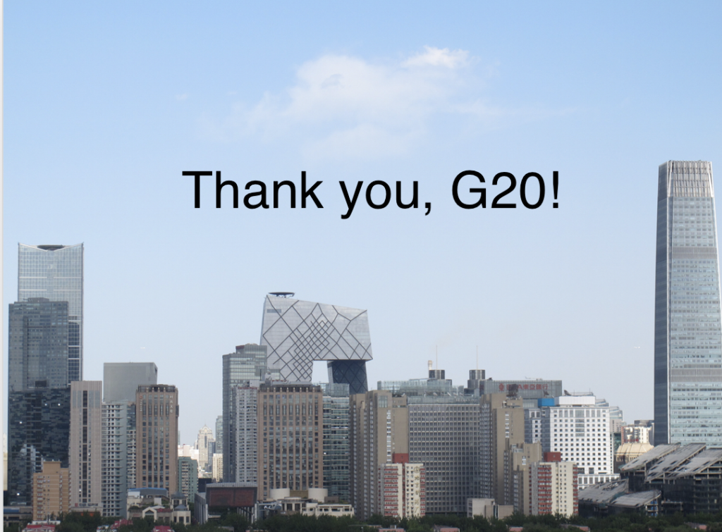 Thank you G20!