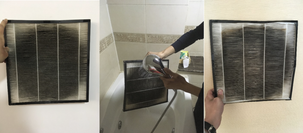 How NOT to wash HEPA filters with water