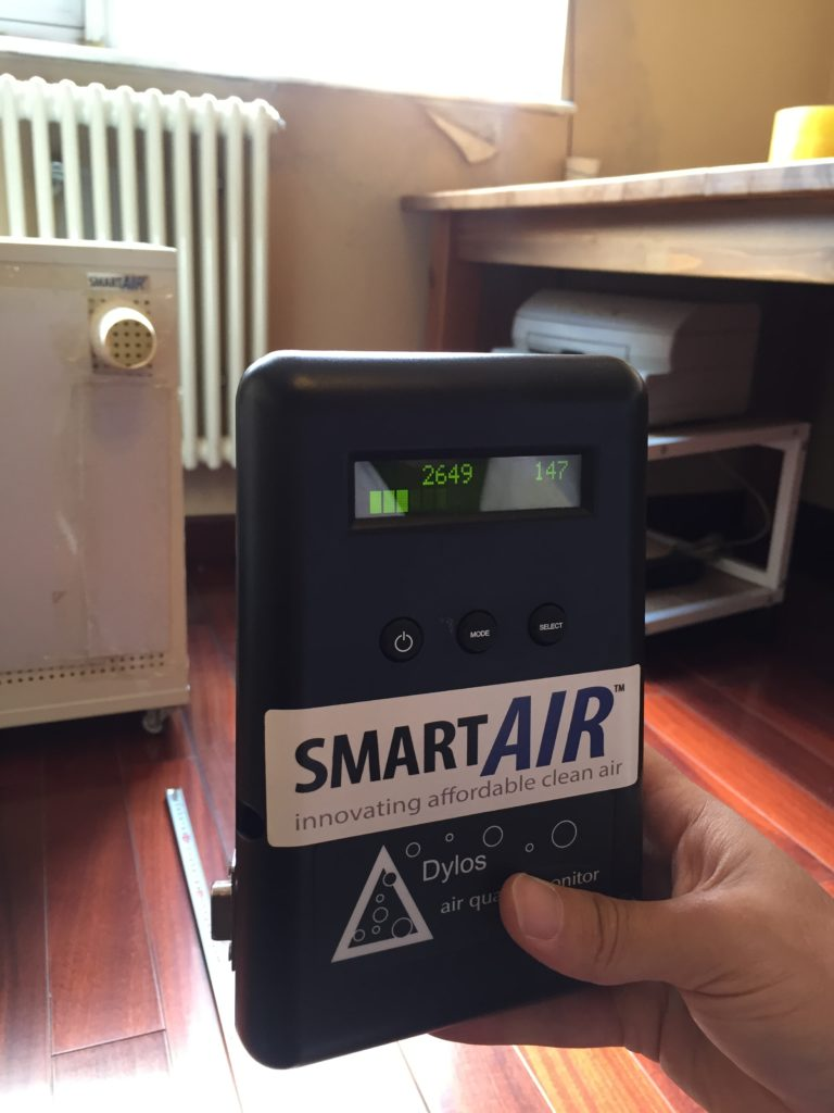 Air quality out of IQAir Atem - style nozzle