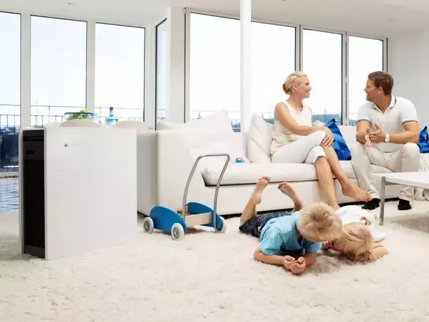 Air purifier advertisement BlueAir