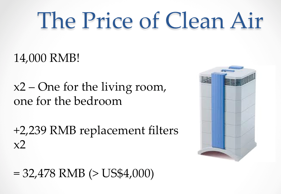 cost of air purifiers very expensive