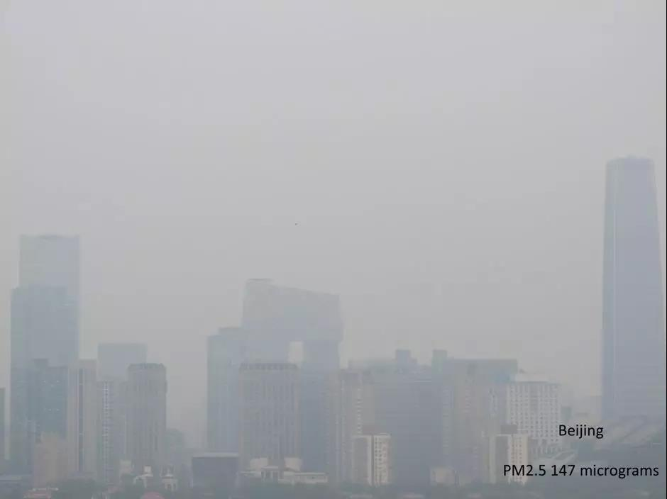 pollution levels in most cities aren't as bad as Beijing air pollution PM2.5