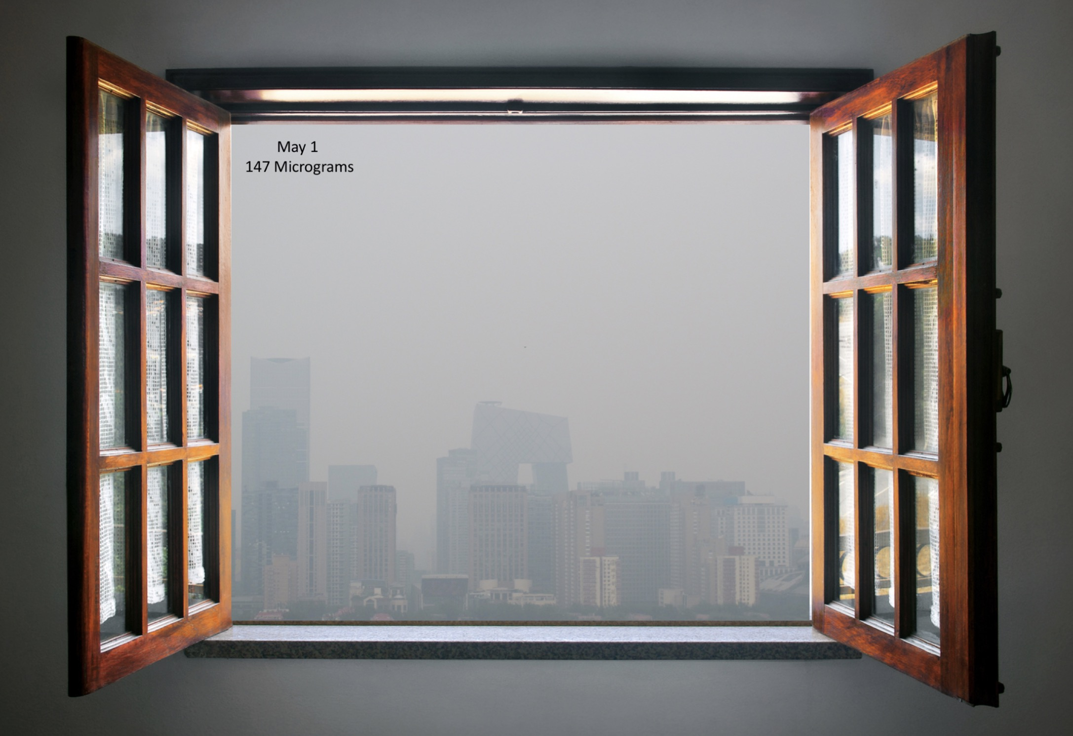Beijing Air Pollution Window Smog