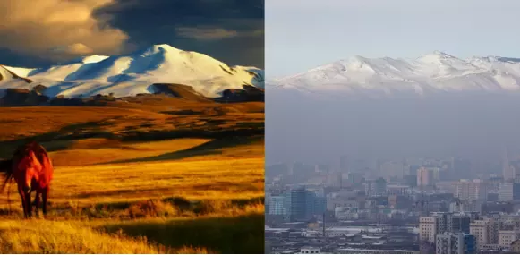 High PM2.5 levels blanket Ulaanbaatar, Mongolia in smog every winter