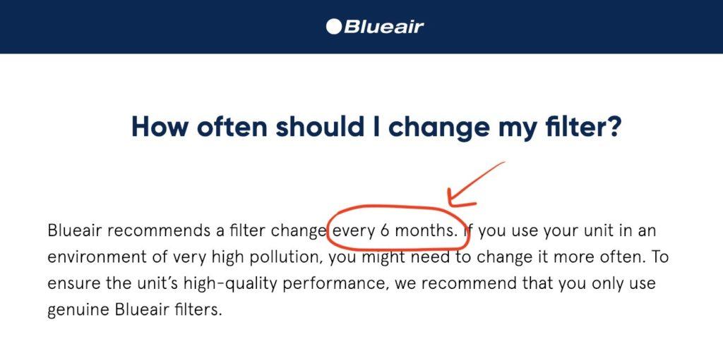 How often should I change my filter?