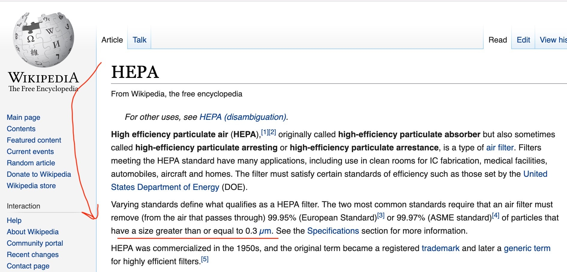 HEPA filters definition