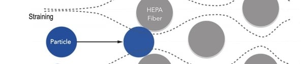 HEPA filter straining capture method