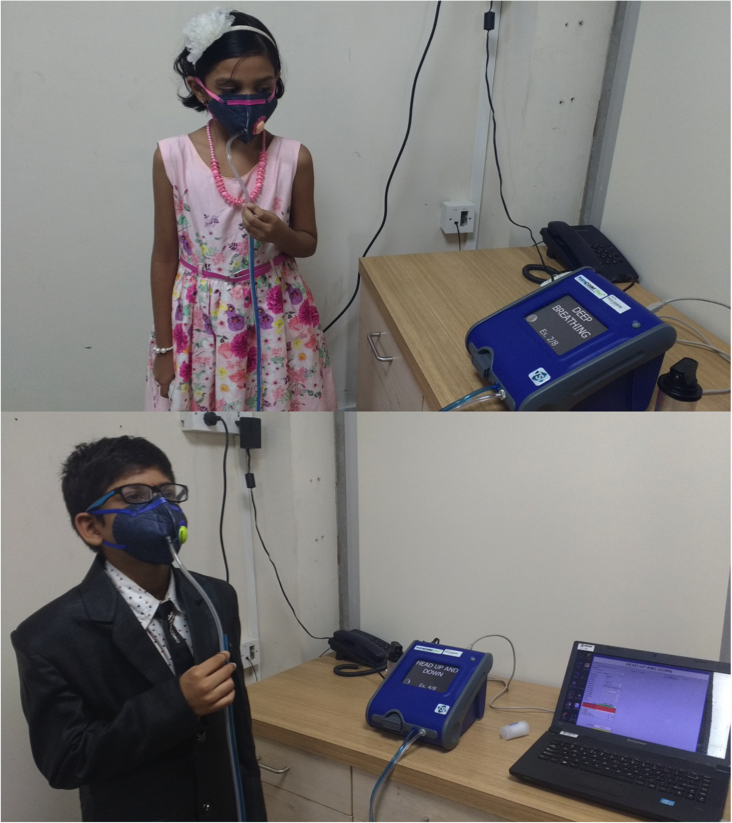 India kid's masks test effectiveness