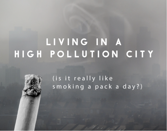Air pollution effect cigarettes