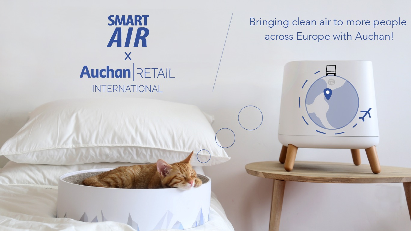Smart Air and Auchan partnership for Sqair clean air in Europe