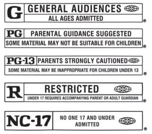 Movie rating system like ffp1 ffp2 n90 n95 n100 respirator rating system