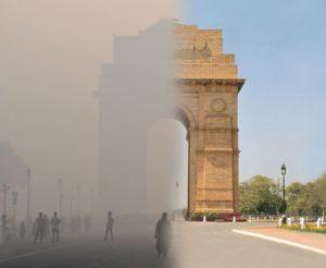 India Gate Delhi pollution