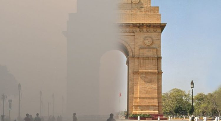 India Gate Delhi pollution