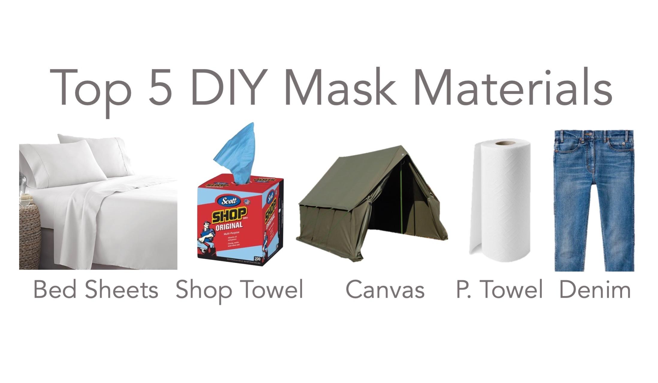 Top 5 DIY Mask Materials