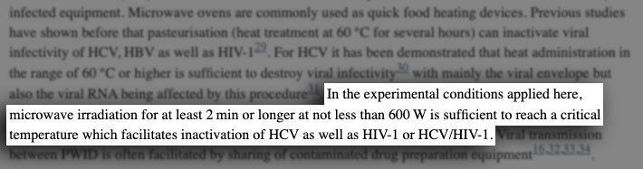 conclusion on microwaving items to kill and disinfect viruses