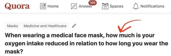 When wearing N95 mask, oxygen intake reduce or not, lots of people ask on Quora