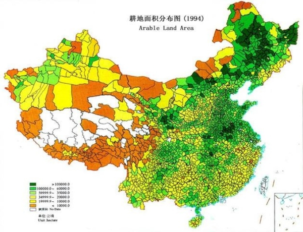 China arable land area