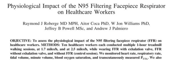 Physiological effects on of wearing n95 masks for healthcenter workers