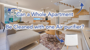 Air purifier filter living room clean filter entire apartment bedrooms doors open