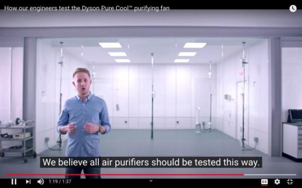 Dyson internal Pure Cool TP05 air purifier test