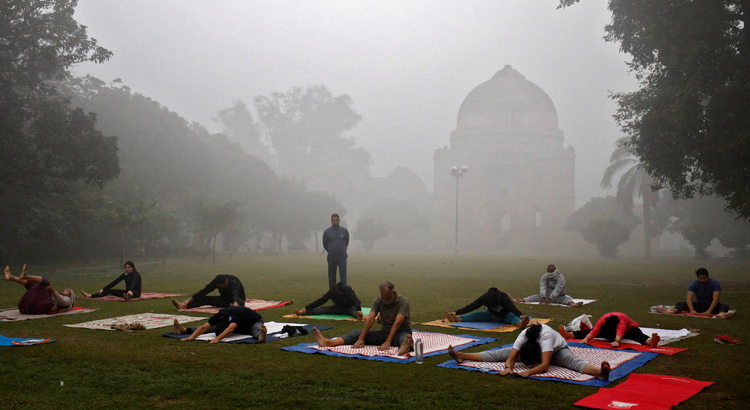 Delhi People Outdoor Excercise