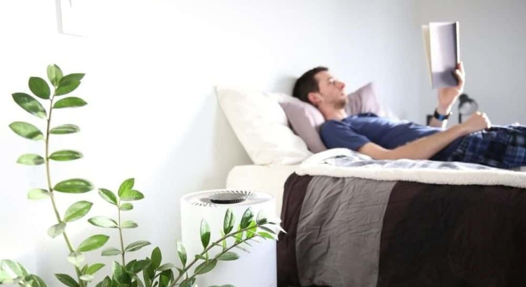 Should you put air purifier next to bed