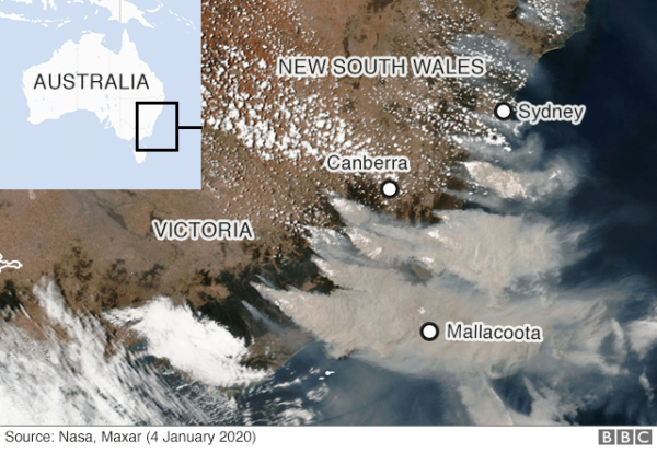 Australia Wildfire Smoke Pollution