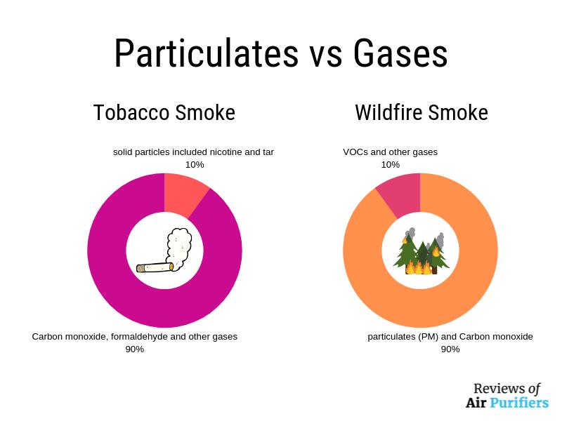 Pollutants in wildfire smoke