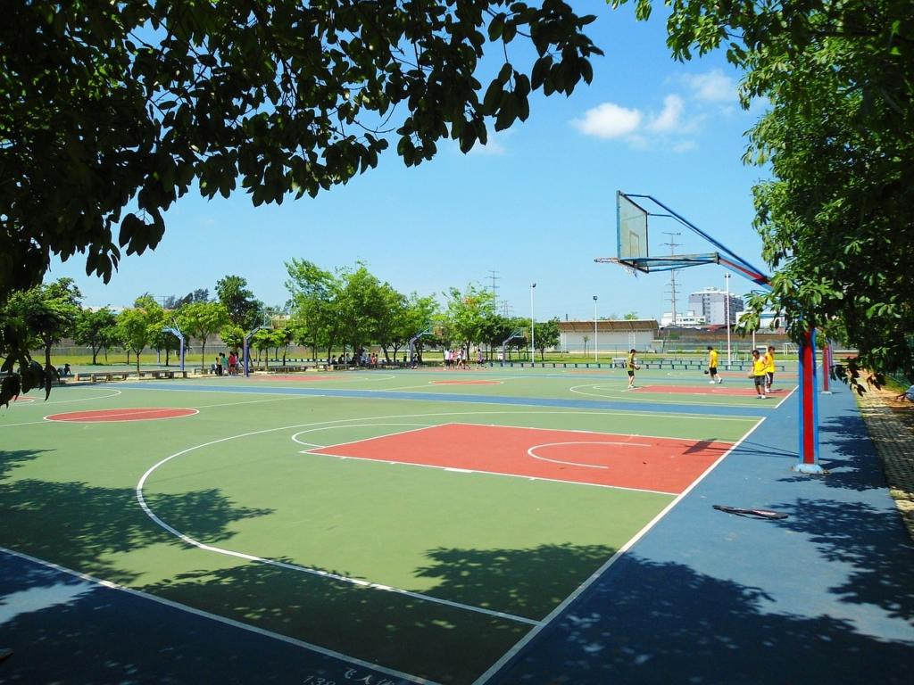 playing basketball in Guangzhou