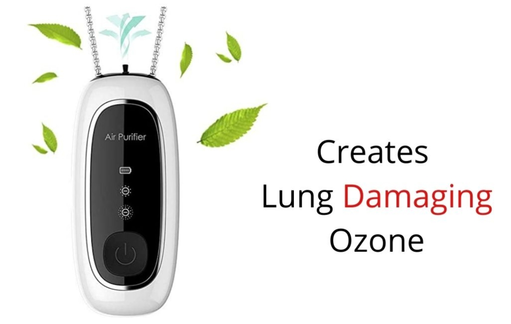 Wearable ionizers create harmful ozone