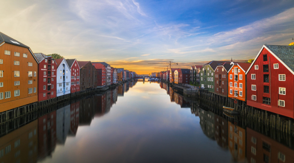Trondheim, Norway, one of least polluted cities in the world