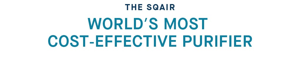 The Sqair - world's most cost-effective air purifier