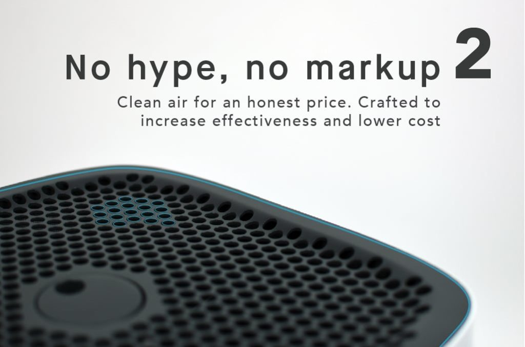 The Sqair gives no hype, no markup, just clean air
