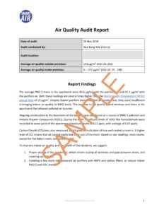 Smart Air Air Quality Audit Report