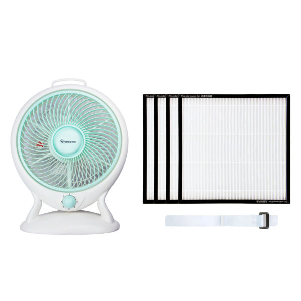 Fans with HEPA filter and strap of DIY1.0 Air Purifier