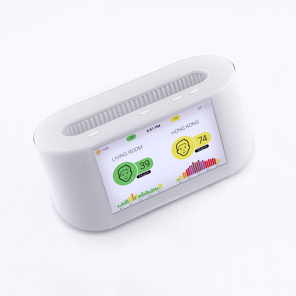 Top view of AirVisual Pro Air Pollution Monitor
