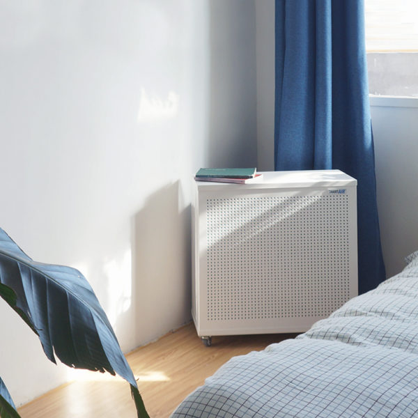 Blast Mini Air Purifier by the bed