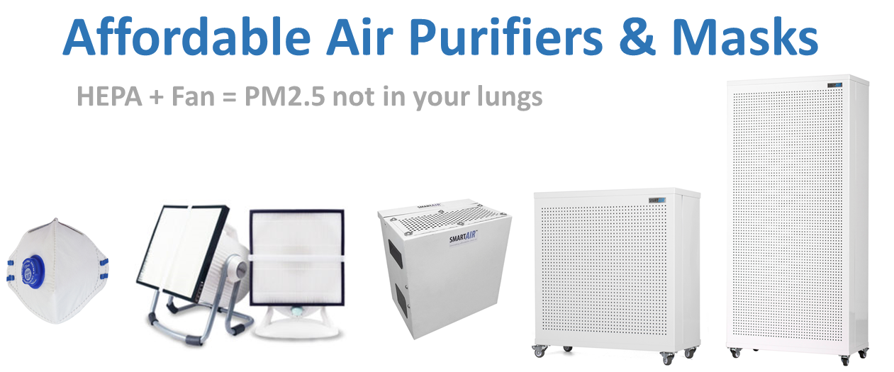 Smart Air air purifiers and masks