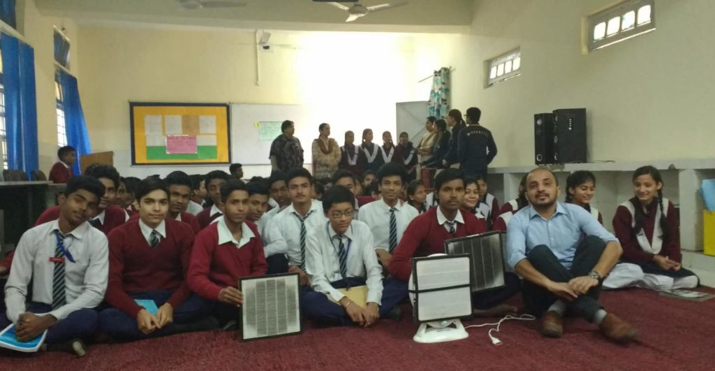 Smart Air workshop in Delhi school