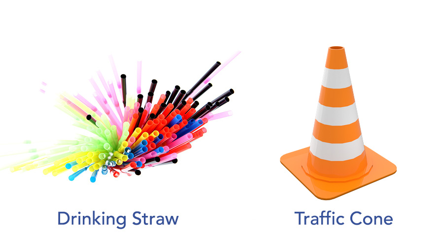 Blow air through traffic cone and straw like air purifier very quiet